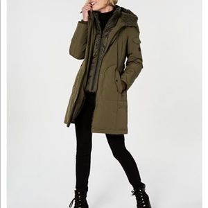 1 Madison Expedition Green Fox Fur Parka S Coat